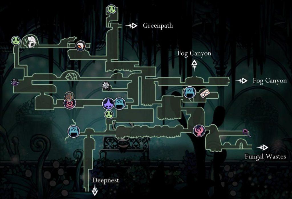 Hollow Knight: карта садов королевы