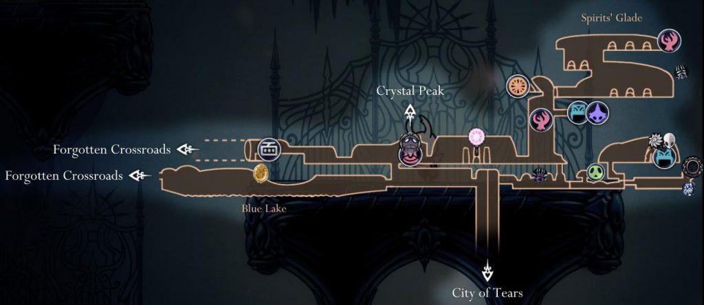 Hollow Knight: карта зоны отдыха
