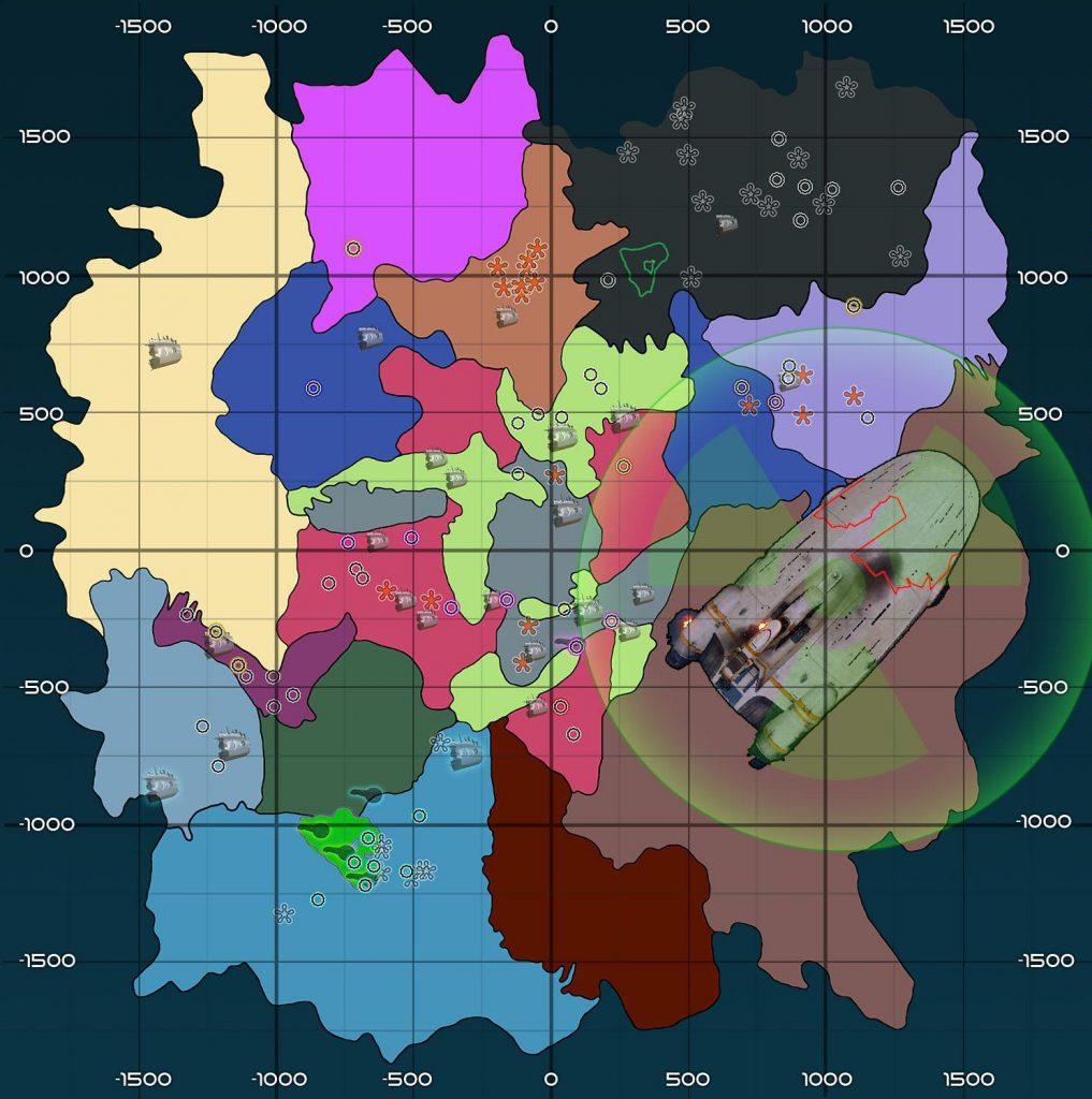 subnautica - карта мира
