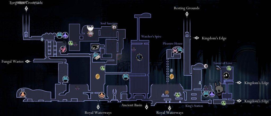 Hollow Knight: карта города слез