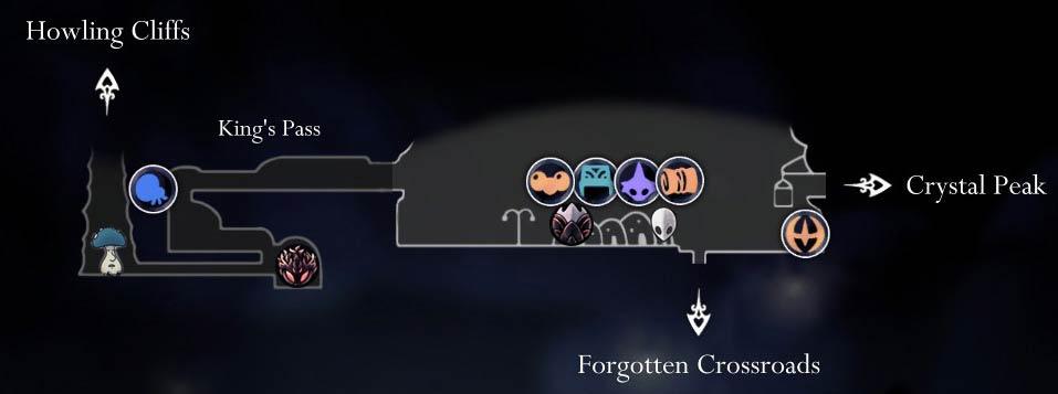 Hollow Knight: карта Дартмута