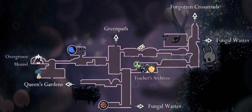 Hollow Knight: карта туманного каньона