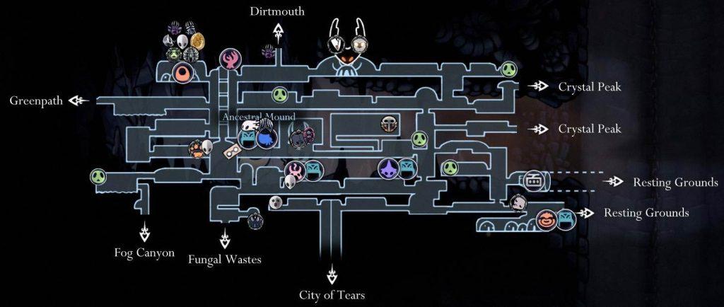 Hollow Knight: карта забытого перекрестка