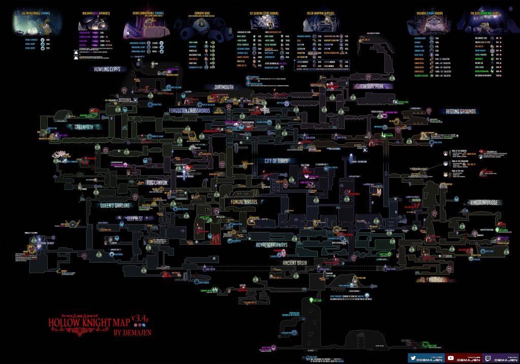 Hollow Knight полная карта