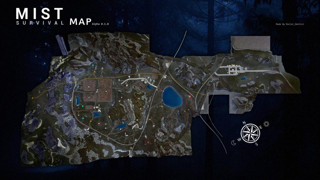 Mist Survival: полная карта местности