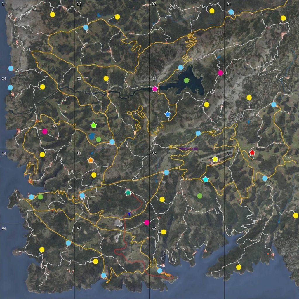 Полная карта SCUM
