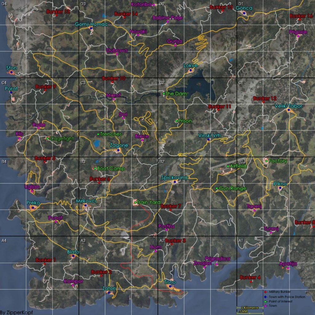 Карта SCUM