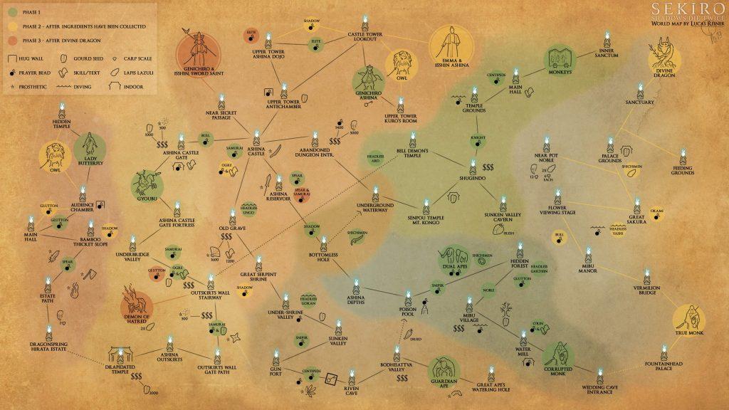 карта sekiro