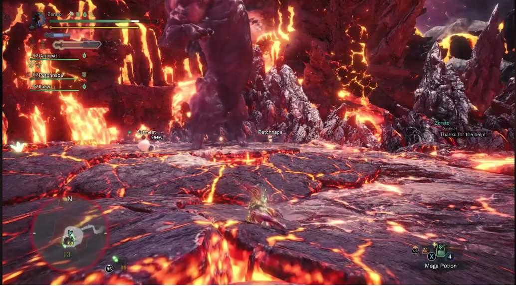 Monster Hunter World - Что делать, если бегемот ударил тебя?