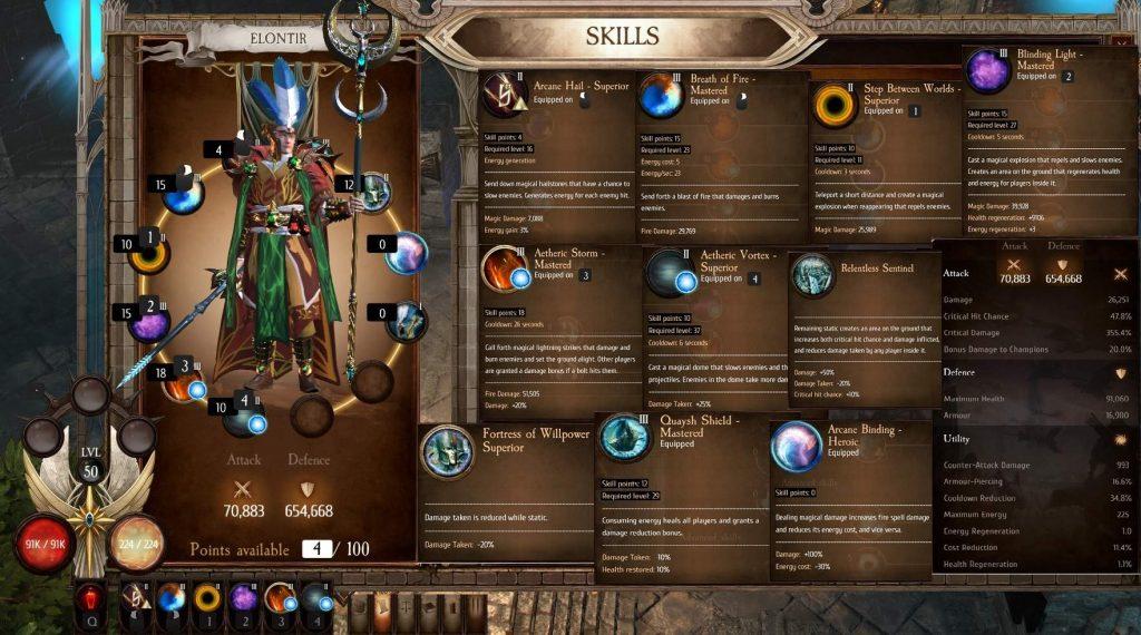Warhammer Chaosbane навыки