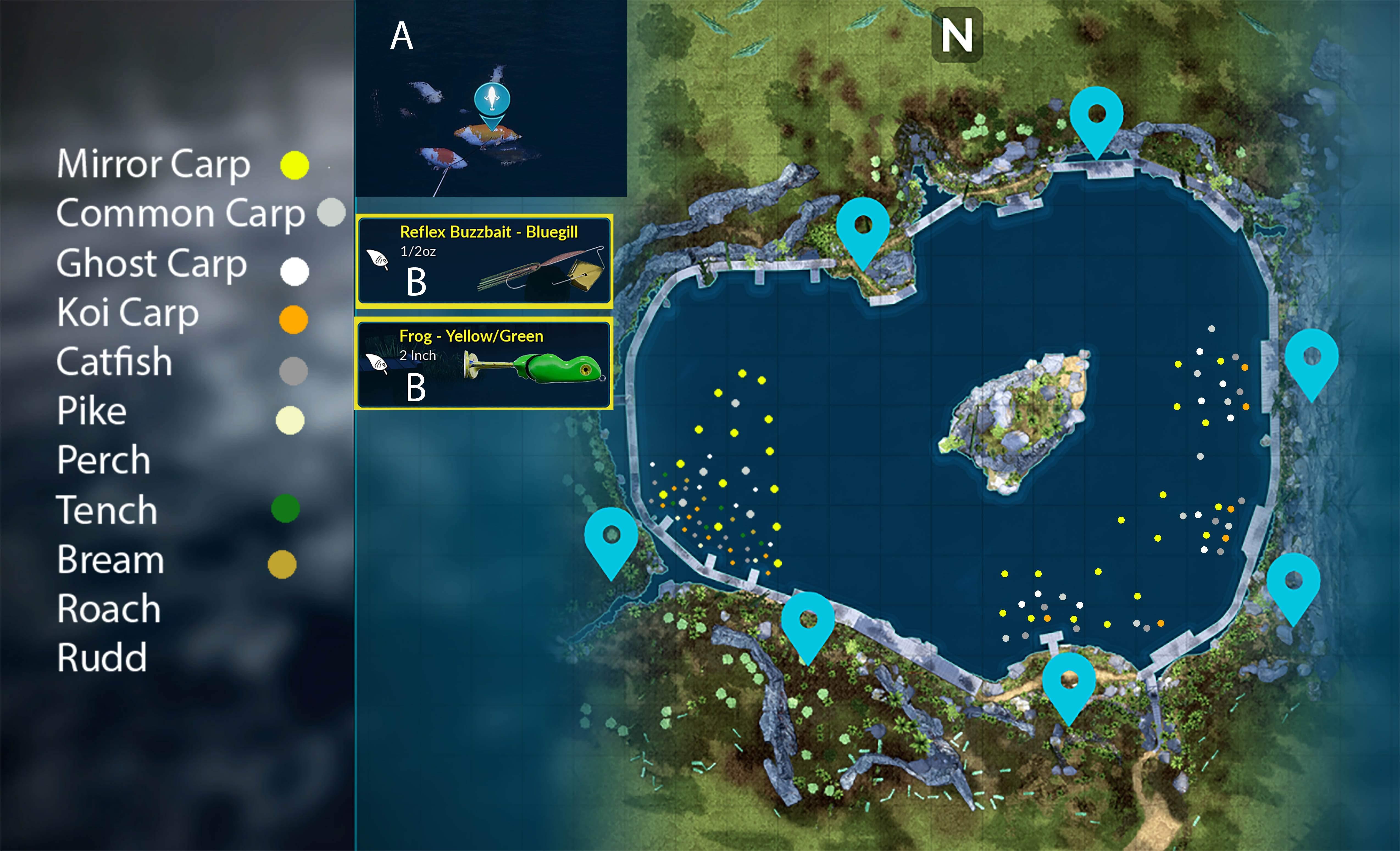 Fishing Sim World карта