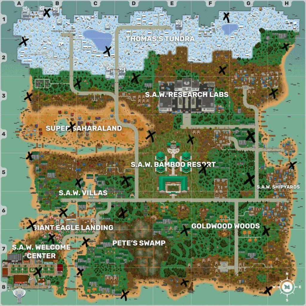 Super Animal Royale карта