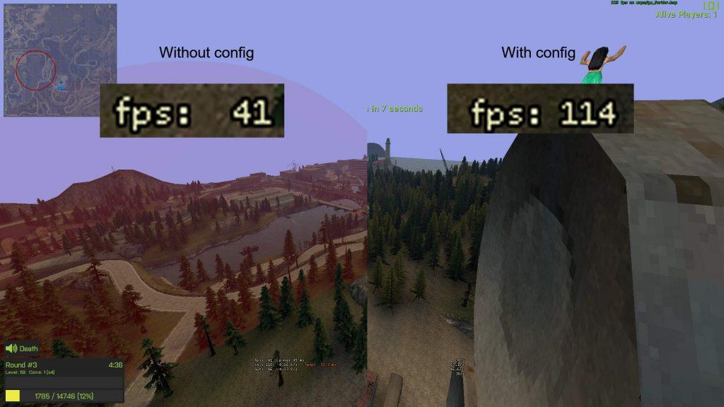 Разница в FPS Garry's Mod