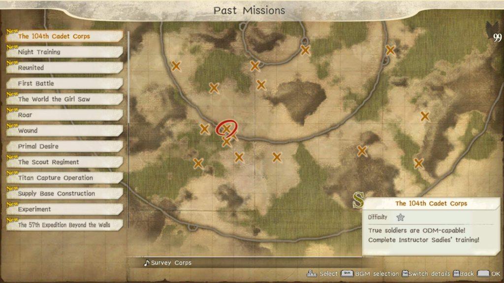 Миссии в Attack on Titan 2