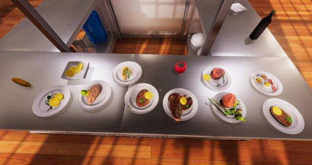 Cooking Simulator — классический рецепт лосося со спаржей
