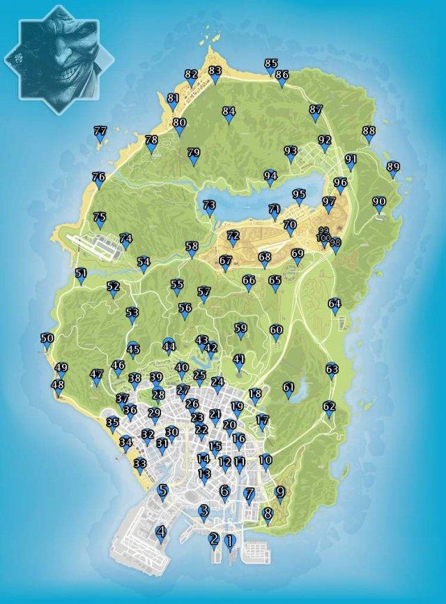 GTA 5 карта