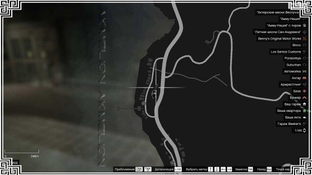 GTA 5 - расположение всех игровых карт