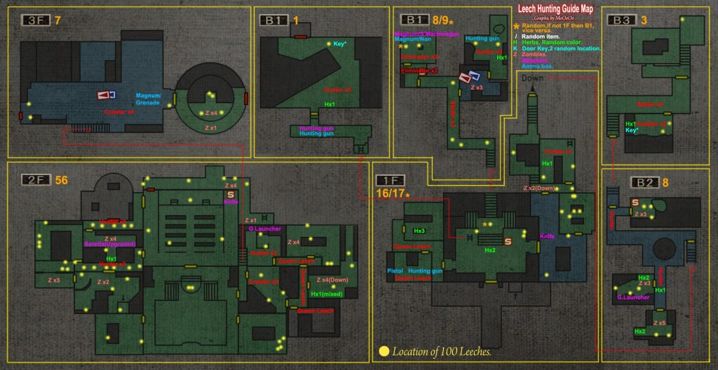 Resident Evil 0 карта