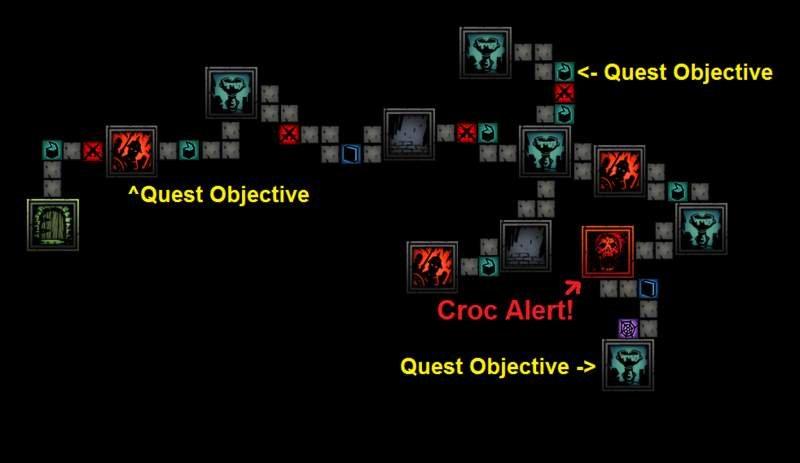 Darkest Dungeon - подробная карта внутреннего двора (багряный двор)