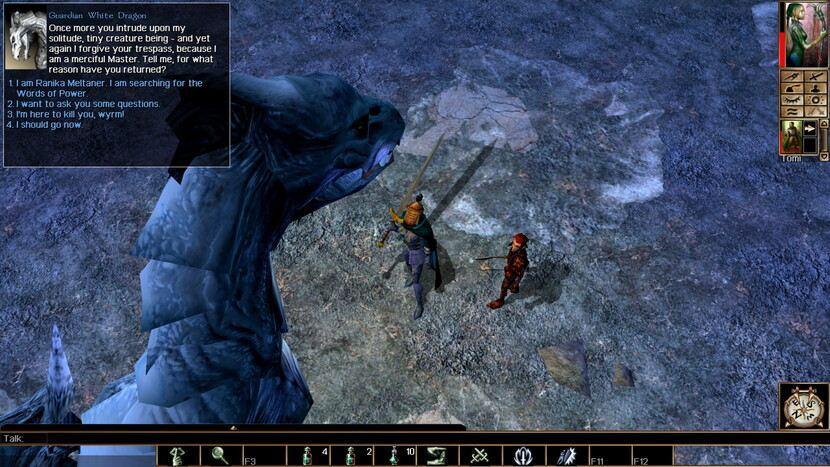 NEVERWINTER NIGHTS (2002), сражение с драконом