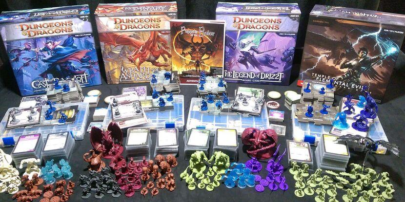 Разные издания Dungeon & Drangons