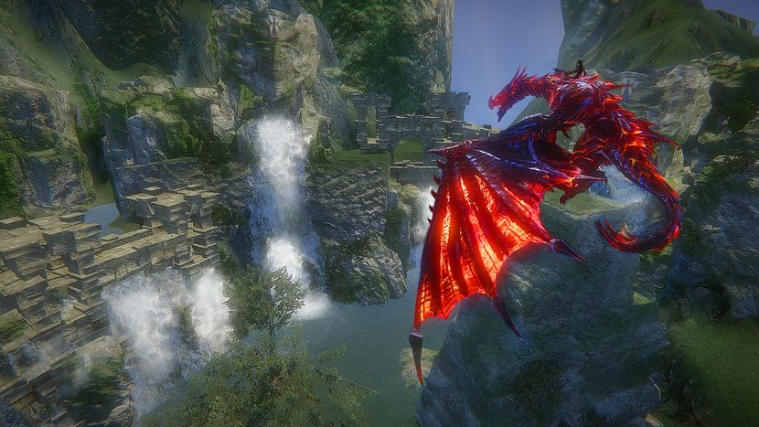 Riders of Icarus, верхом на драконе