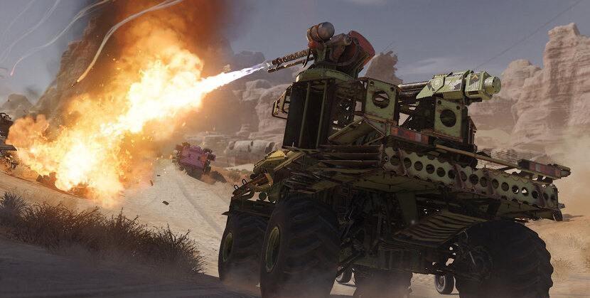 Автомобиль с огнемётом в Crossout MMO