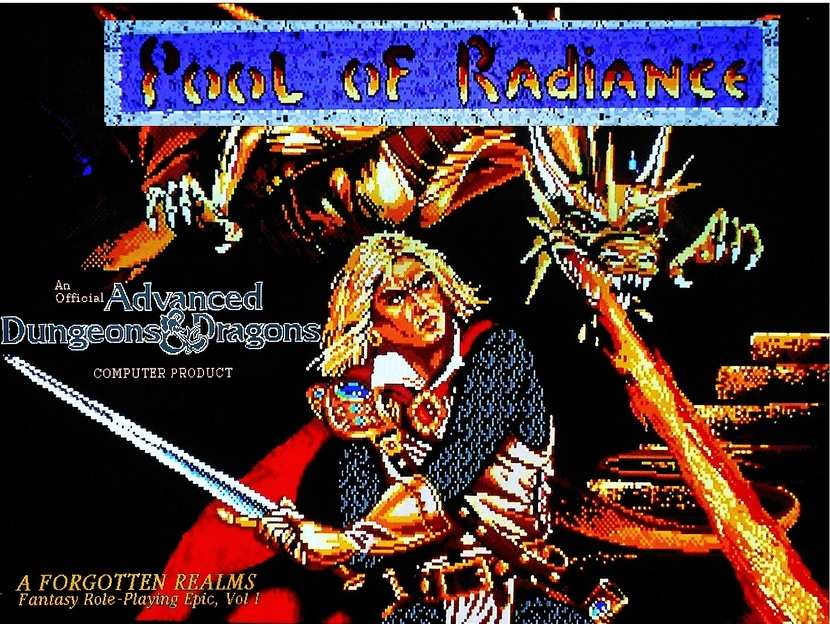 Главный экран Pool of Radiance