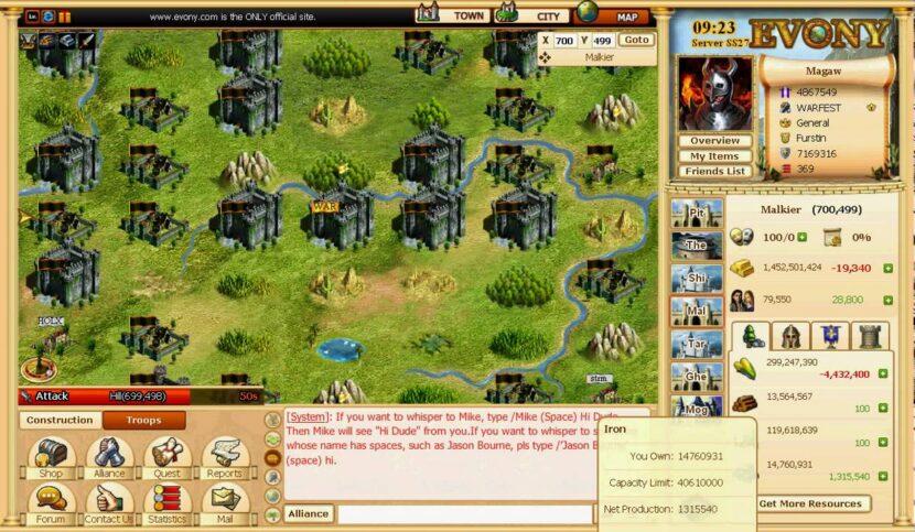 Evony игра на пк онлайн