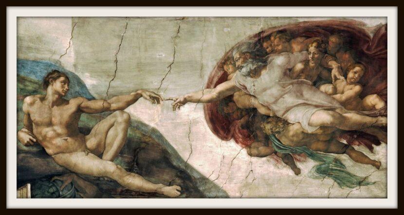 Микеланджело - Создание Адама